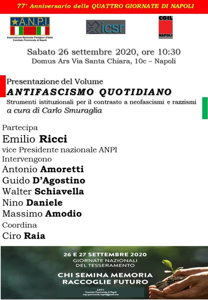 Napoli 26 Settembre 2020 ore 10.30